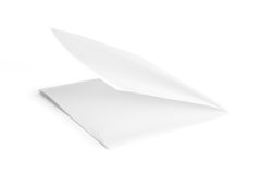 Folded Paper. On White Background royalty free stock image