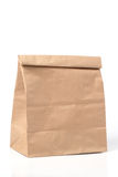 Folded paper bag. On white background stock image