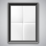 Folded Paper in Black Frame Royalty Free Stock Photos