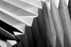 Folded paper. Close up of a folded white  print papers Royalty Free Stock Image