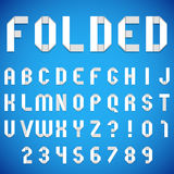 Folded Paper Font Royalty Free Stock Images