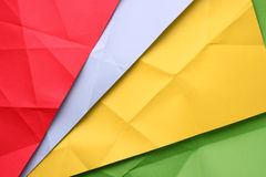 Folded paper. Folded new color full paper stock images