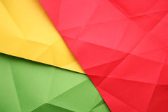 Folded paper. Folded new color full paper royalty free stock images