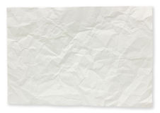 Folded paper notes. Folded paper notes isolated on white background royalty free stock images