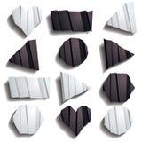Folded Paper Set Stock Images