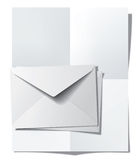 Folded paper sheet and envelopes Stock Photo
