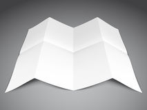 Folded Paper Sheet Royalty Free Stock Images