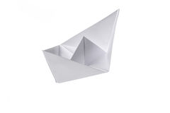 Folded paper ship Royalty Free Stock Images