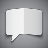 Folded Paper Speech Bubble Stock Images