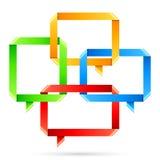 Folded Paper Speech Bubbles Stock Image