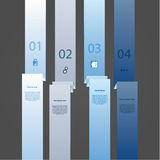Folded paper strip template. Four choices with space for your te. Xt and images. Four labels in different colors. Elements for presentation, website, or poster Royalty Free Stock Photography