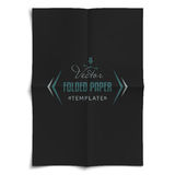 Folded Paper Template Stock Photos