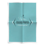 Folded Paper Template Royalty Free Stock Photos
