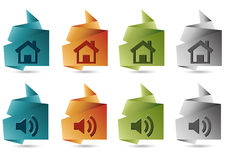Folded paper web icon Stock Images