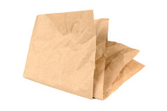 Folded Paper on White Background Stock Photos
