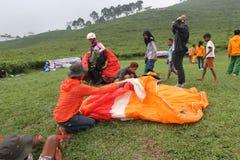 Folded parachute Royalty Free Stock Image