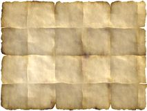 Folded parchment. Blank parchment with folded  edges which can be used as backdrop Stock Photo