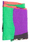 Folded patchwork scarf isolated on white Royalty Free Stock Image