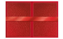 Folded Presentable Red Certificate Folder Royalty Free Stock Photo