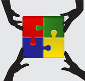 Folded puzzle Stock Images