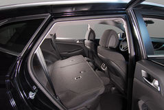Folded rear seat of the car Royalty Free Stock Photo