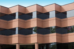 Folded Red Brick Building Royalty Free Stock Photo