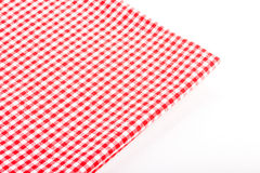 Folded red checkered tablecloth Royalty Free Stock Photo