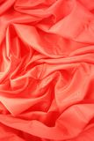 Folded red satin Stock Image