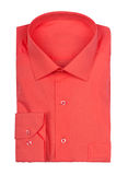 Folded red shirt Royalty Free Stock Photos
