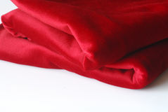 Folded Red Textile Stock Images