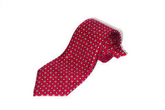 Folded red tie on a white background Royalty Free Stock Photos
