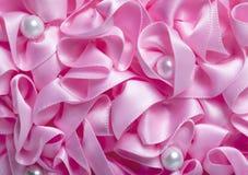 Folded Ribbon Texture Stock Photo