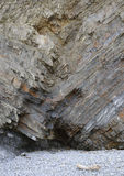 Folded Rock Strata & Cave Stock Photography