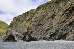 Folded Rock Strata & Caves Royalty Free Stock Photos