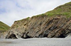 Folded Rock Strata & Caves Stock Photo
