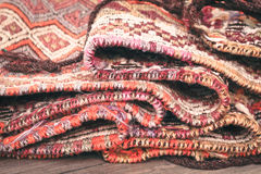 Folded rug Royalty Free Stock Images