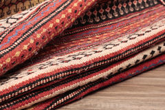 Folded rug Royalty Free Stock Images