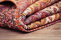 Folded rug Royalty Free Stock Photo