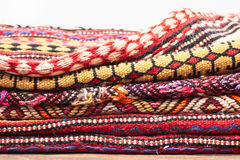 Folded rugs Royalty Free Stock Photos