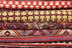 Folded rugs Royalty Free Stock Images
