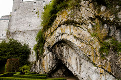 Folded Sedimentary Rock - Durbuy - Belgium. Folded Sedimentary Rock in Durbuy - Belgium Royalty Free Stock Photography