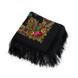 Folded shawl. Shawl, a traditional headdress of Russian women stock images