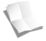 Folded sheet of paper. Isolated on the white background Stock Images