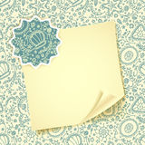 Folded sheet of paper with on abstract Seamless protozoa pattern Royalty Free Stock Photos