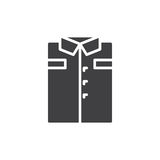 Folded shirt icon vector, filled flat sign, solid pictogram isolated on white. Royalty Free Stock Image