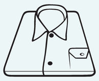 Folded shirt Royalty Free Stock Images