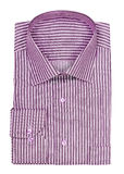 Folded shirt with purple stripes Royalty Free Stock Photos