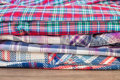 Folded shirts Stock Image