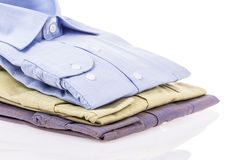 Folded shirts Stock Images
