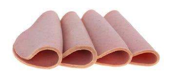Folded slices of bologna Stock Photo